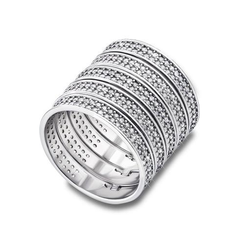 Фаланговое серебряное кольцо с фианитами (AZ01138/24)