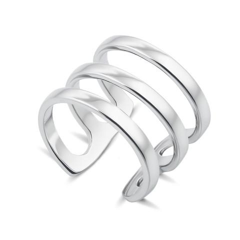 Фаланговое тройное серебряное кольцо (00828/12/1)