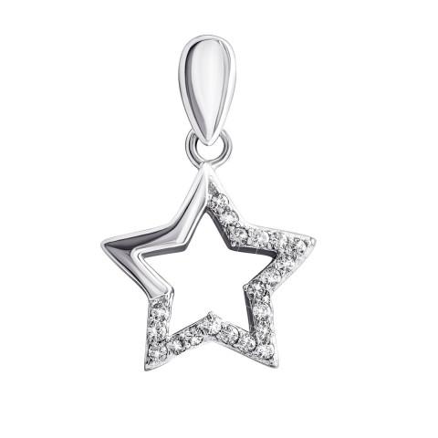 Серебряная подвеска Звезда (S1254)