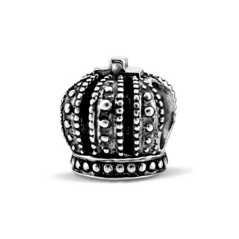 Серебряная бусина шарм Корона (562221)