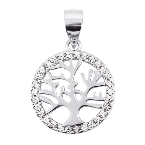 Серебряная подвеска Дерево с фианитами (PPS2161)