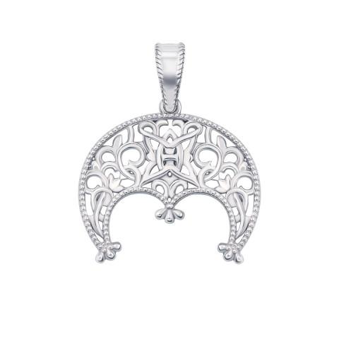 Серебряная подвеска-оберег «Лунница» (с70315)