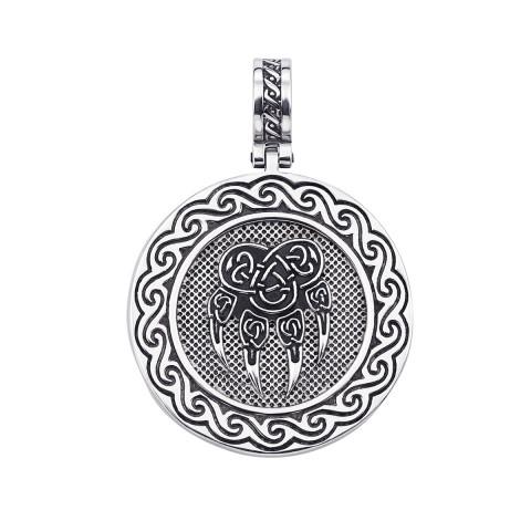 Серебряная подвеска-оберег «Печать и знак Велеса» (с35018)