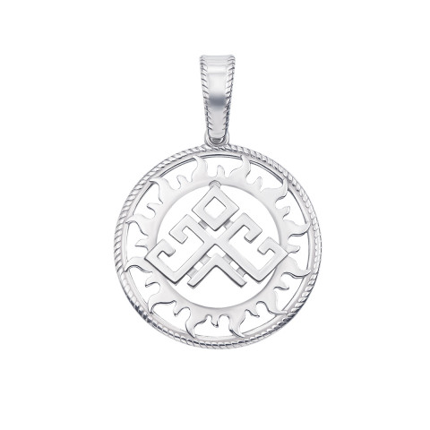 Серебряная подвеска-оберег «Рожаница» (35015/12/1)