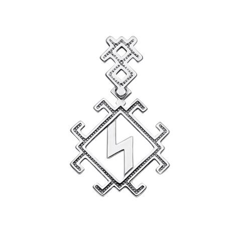 """Серебряная подвеска-оберег «Руна """"Сила""""» (35030/12/1)"""