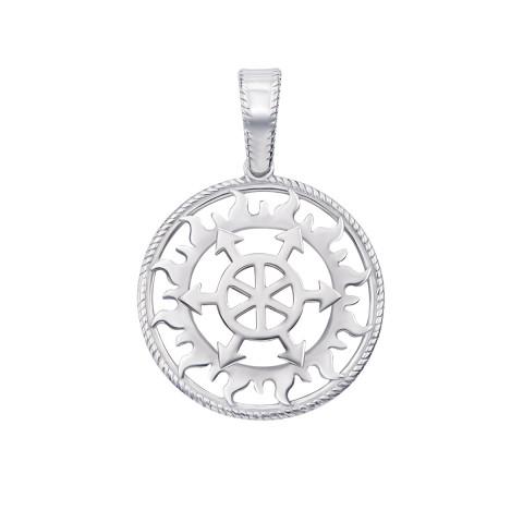 Серебряная подвеска-оберег «Щит Перуна» (с70314)