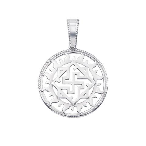 Серебряная подвеска-оберег «Щит Сварога» (с70306)