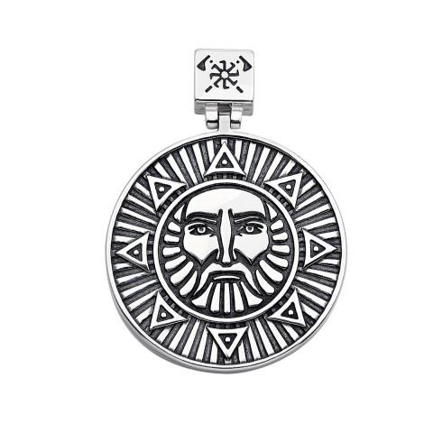 Серебряная подвеска-оберег «Щит воина Яроврат» (35034/12/4)