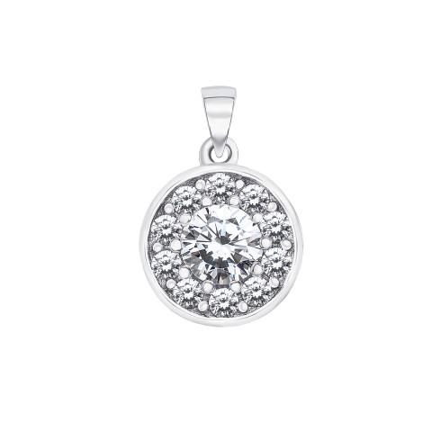 Серебряная подвеска с фианитами (ES0239-P/12/1)
