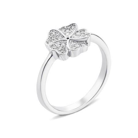Серебряное кольцо «Цветок» с фианитами (PSS0673-R)