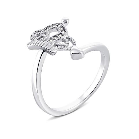 Серебряное кольцо Корона с фианитами (FD869)