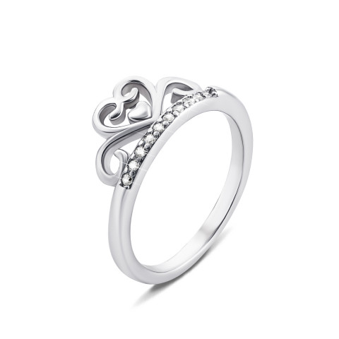 Серебряное кольцо «Корона» с фианитами (SD15657)