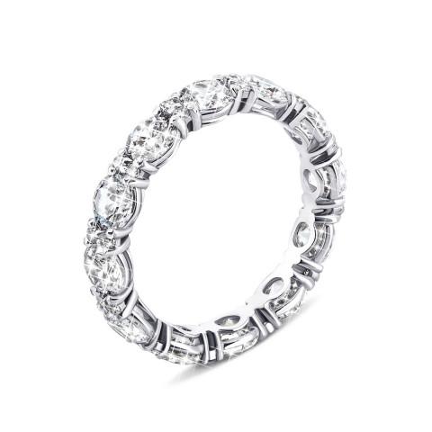 Серебряное кольцо с фианитами (10145)