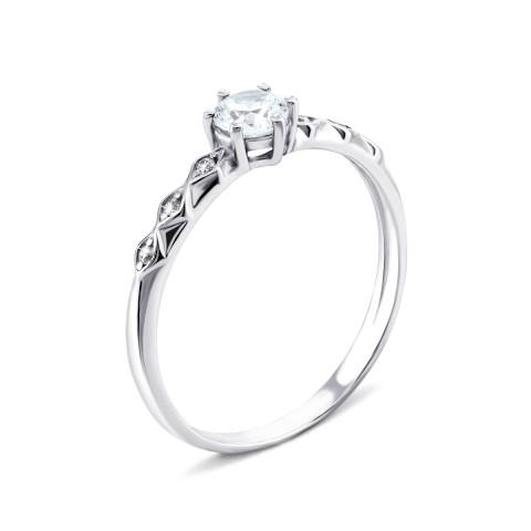 Серебряное кольцо с фианитами (1246/1р-CZ)