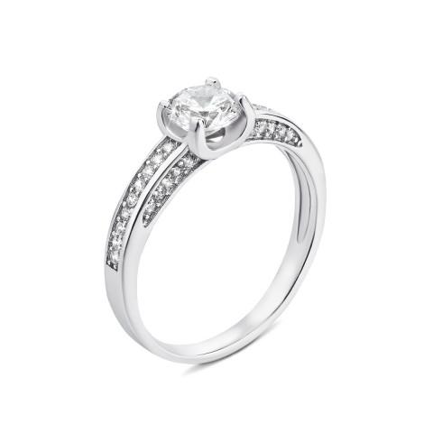 Серебряное кольцо с фианитами (1RI36712-R)