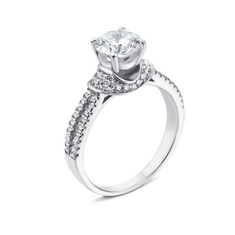 Серебряное кольцо с фианитами (1RI38993-R/12/1)