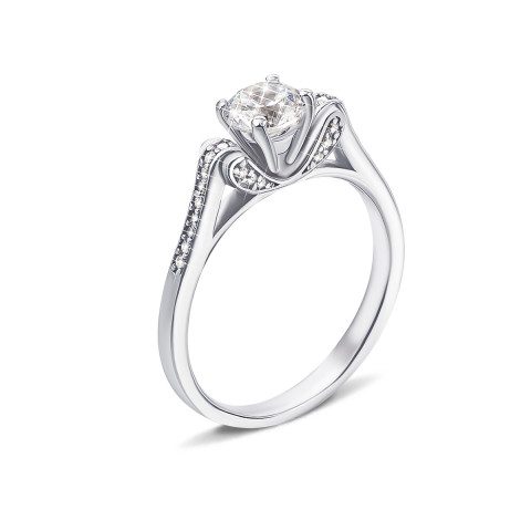 Серебряное кольцо с фианитами (1RI39107-R)