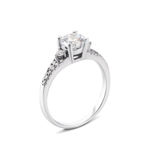 Серебряное кольцо с фианитами (1RI57666)