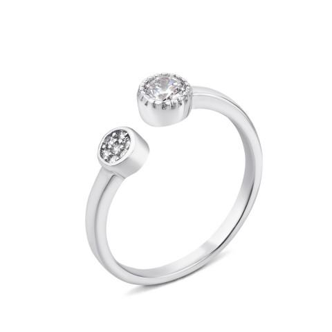 Серебряное кольцо с фианитами (1RI58696/0-R)