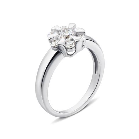 Серебряное кольцо с фианитами (1RI58794-R)