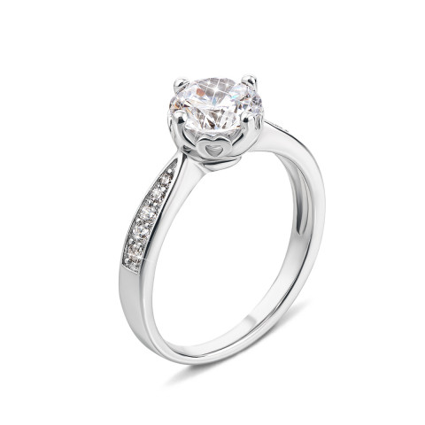 Серебряное кольцо с фианитами (1RI58837-R)