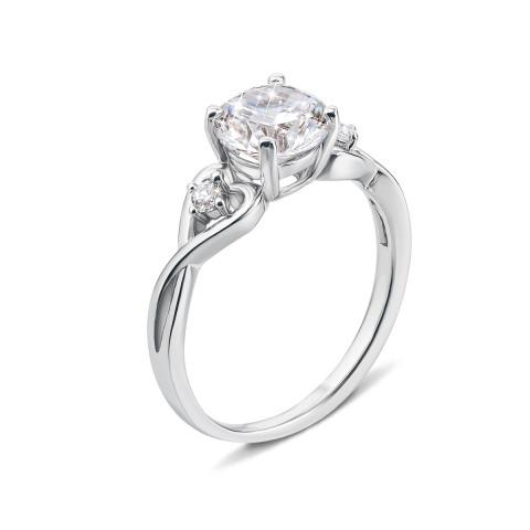 Серебряное кольцо с фианитами (1RI59063-R)