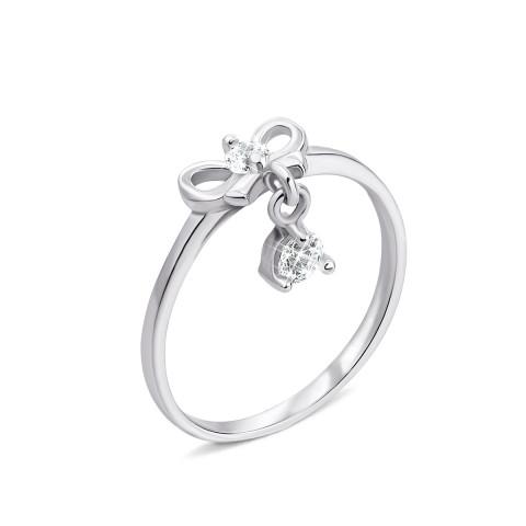 Серебряное кольцо с фианитами (1RI50799-R)