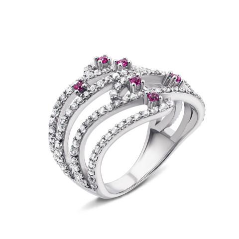 Серебряное кольцо с фианитами (AZ01068/27р)