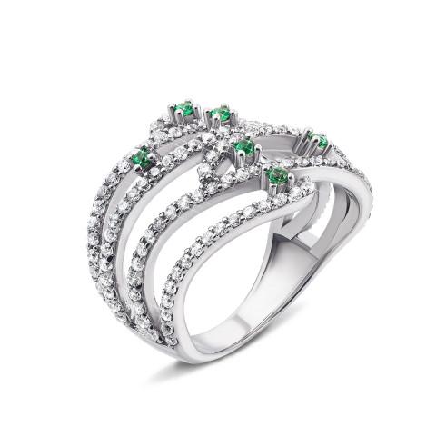 Серебряное кольцо с фианитами (AZ01068/27з)