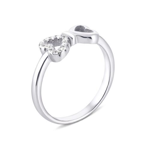 Серебряное кольцо Бантик с фианитами (LR1130)