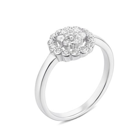 Серебряное кольцо с фианитами (S276-R)