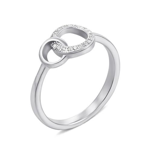 Серебряное кольцо с фианитами (S474-R)