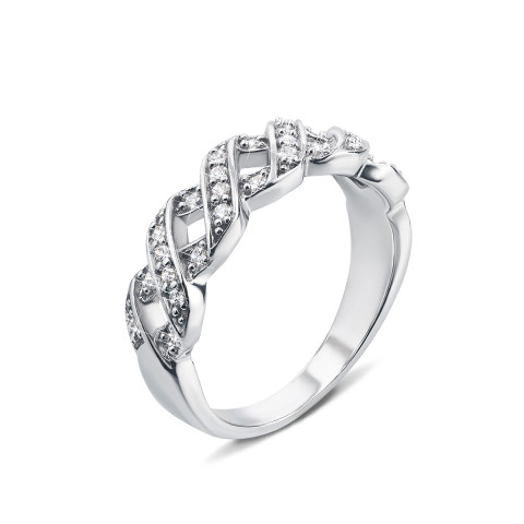 Серебряное кольцо с фианитами (YR6143)