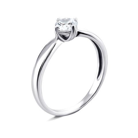Серебряное кольцо с фианитом (1241/1р-CZ)