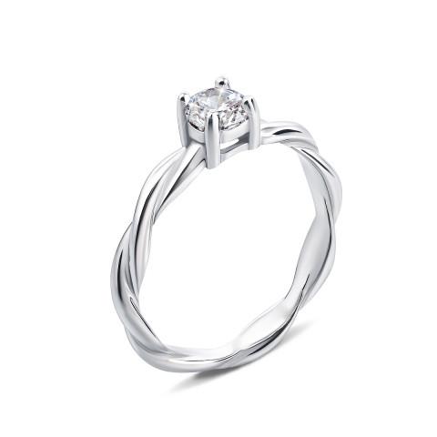 Серебряное кольцо с фианитом (1RI57940-R)