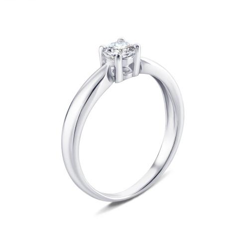 Серебряное кольцо с фианитом (PRS0790-4MM)