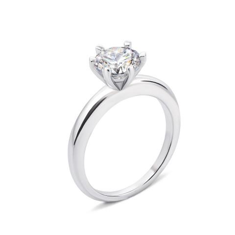 Серебряное кольцо с фианитом (PRS1165-7MM/12/1)