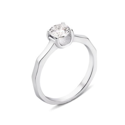 Серебряное кольцо с фианитом (PRS2004-R)
