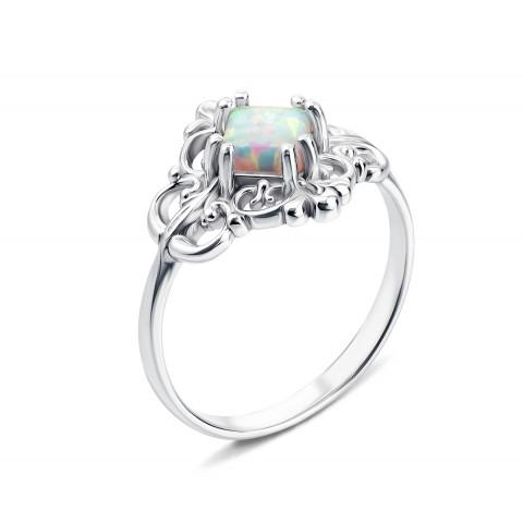 Серебряное кольцо с опалом (00326/12/1/466 (с00326/опал))