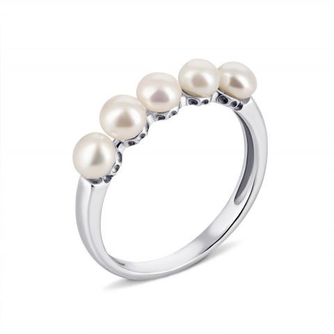Серебряное кольцо с жемчугом (1691/1р-PWT)