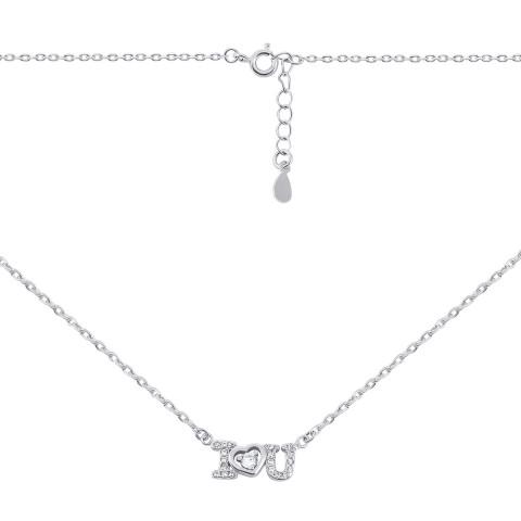 Серебряное колье с фианитами (N523)