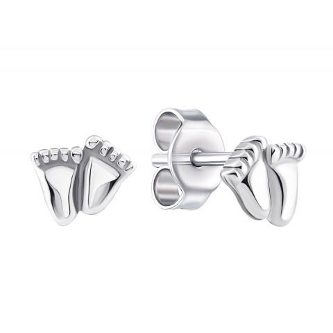 Серебряные пуссеты «Ножки» (1EA84310)