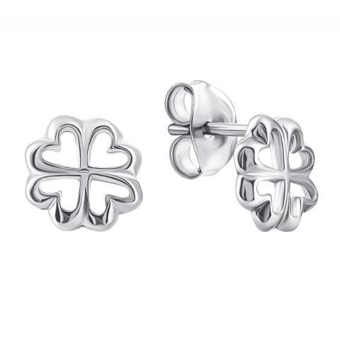 Серебряные пуссеты Цветы (1EA43322-E)