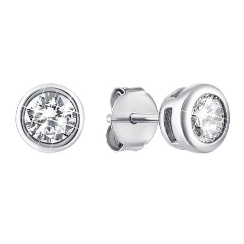 Серебряные пуссеты с фианитами (1EA78745)