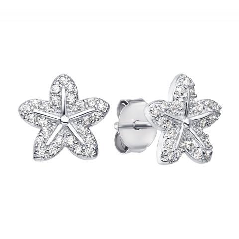 Серебряные пуссеты с фианитами (ES0101EP-E)