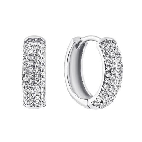 Серебряные серьги с фианитами (1EA80024-E)