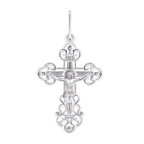 Серебряный крестик. Распятие Христа (П2/206)