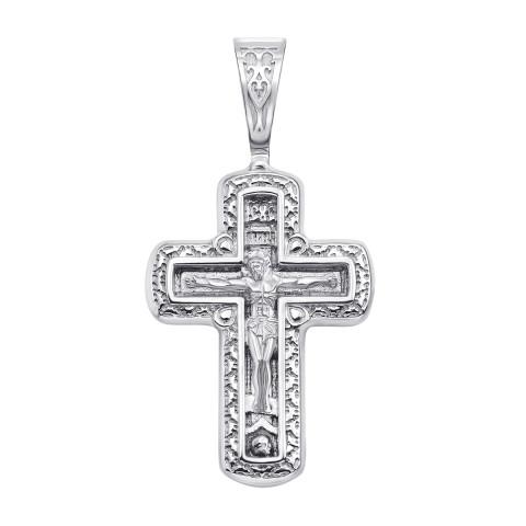 Серебряный крестик. Распятие Христа (с31443)