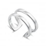 Фаланговое двойное серебряное кольцо (00827/12/1)