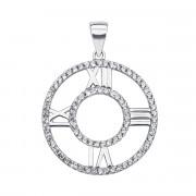 Серебряная подвеска с фианитами (PSS1009-P)